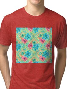 Spring Tribal Succulent Tri-blend T-Shirt