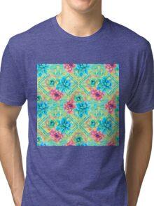 Spring Tribal Succulent Tri-blend T-Shirt