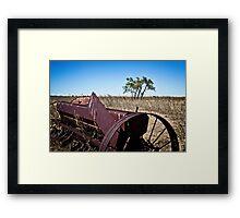 abandoned rural farm equipment Framed Print