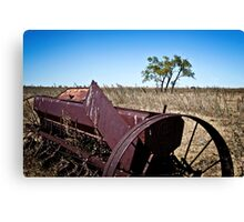 abandoned rural farm equipment Canvas Print