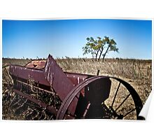 abandoned rural farm equipment Poster