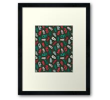 Mittens - Green by Andrea Lauren  Framed Print