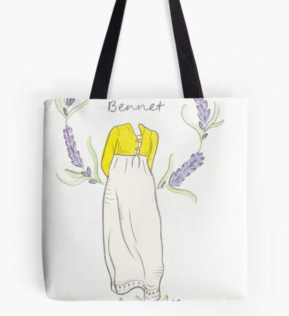 Elizabeth bennet silhouette Tote Bag