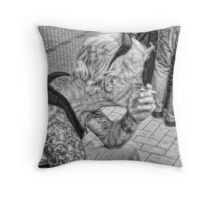 biker boy Throw Pillow