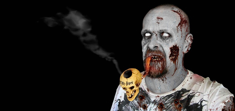 Pipe Smoking Zombies by ADzArt