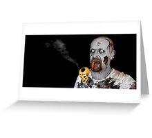 Pipe Smoking Zombies Greeting Card