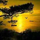 Golden Sunset Gibraltar by manateevoyager
