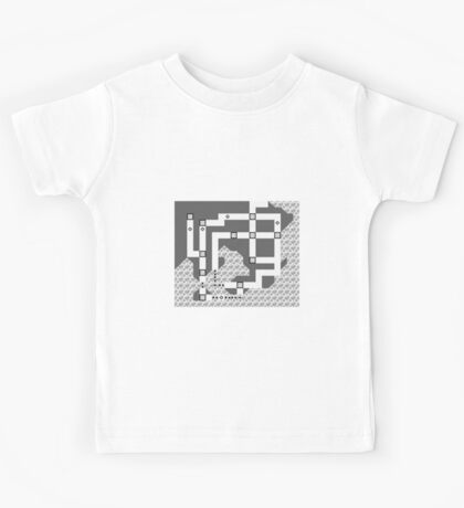 Kanto Town Map Pokemon Red, Blue, and Yellow Kids Tee