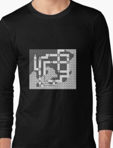 Kanto Town Map Pokemon Red, Blue, and Yellow Long Sleeve T-Shirt