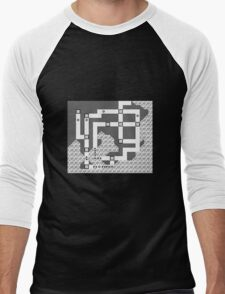 Kanto Town Map Pokemon Red, Blue, and Yellow Men's Baseball ¾ T-Shirt