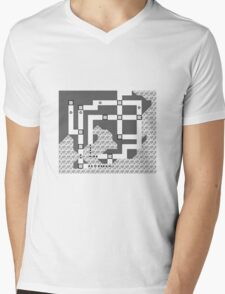 Kanto Town Map Pokemon Red, Blue, and Yellow Mens V-Neck T-Shirt