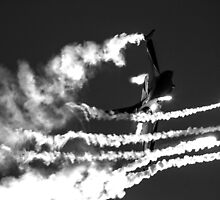 F16 firing flares by AviationPrints