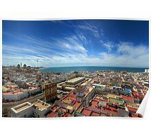 Across The Rooftops Of Cadiz Poster