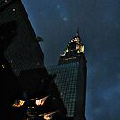 Looking Up At the Chrysler Building (from my car) at Night by Jane Neill-Hancock