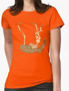 Skeleton Of A Sloth Womens Fitted T-Shirt