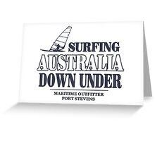 Australian Windsurfing Greeting Card