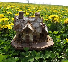 Mini Cottage in a Bed of Dandelions by ImaginaryBee