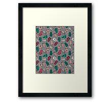 Mittens - Slate by Andrea Lauren  Framed Print