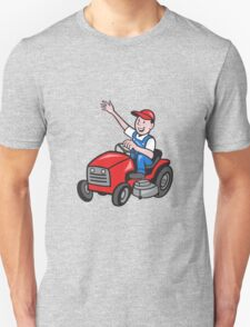 Farmer Driving Ride On Mower Tractor T-Shirt