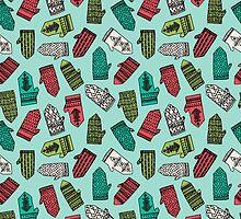 Mittens - Mint by Andrea Lauren  by Andrea Lauren