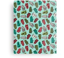 Mittens - Mint by Andrea Lauren  Metal Print