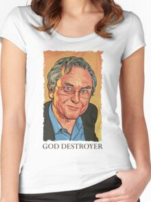 God Destroyer Richard Dawkins Women's Fitted Scoop T-Shirt