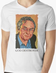 God Destroyer Richard Dawkins Mens V-Neck T-Shirt
