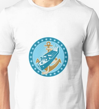 Container Ship Cargo Boat Anchor Unisex T-Shirt