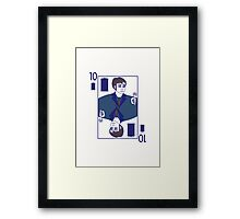 Ten of Tardis - White Framed Print
