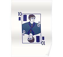 Ten of Tardis - White Poster