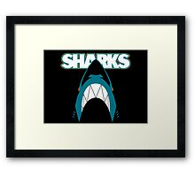 In the Jaws of the Sharks Framed Print