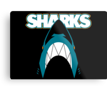 In the Jaws of the Sharks Metal Print