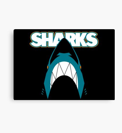 In the Jaws of the Sharks Canvas Print