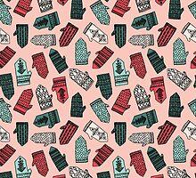 Mittens - Pink by Andrea Lauren  by Andrea Lauren