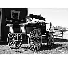 Old Carriage - Black and White Photographic Print