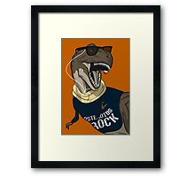 Hipstereosaurus Rex (Version 2) Framed Print