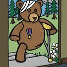 Teddy Bear And Bunny - Home From The War by Brett Gilbert