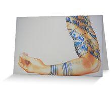 Tattooed Arm #3 Greeting Card