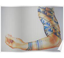Tattooed Arm #3 Poster