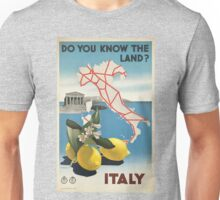 Vintage poster - Italy Unisex T-Shirt