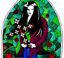 Peter Steele Stained Glass by kittenofdeath