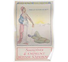 Société Generale Pour la victoire du droit Souscrivez au 4e Emprunt de la Défense Nationale Poster