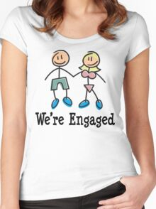 "Engagement Engaged ""We're Engaged"" Women's Fitted Scoop T-Shirt"