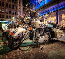 NYPD Bikes by Yhun Suarez