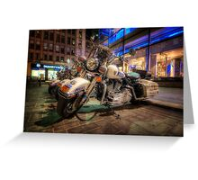 NYPD Bikes Greeting Card