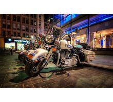 NYPD Bikes Photographic Print