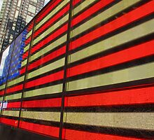 American Flag 42nd Street by Randy Mendelsohn