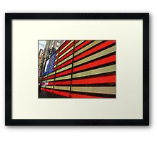 American Flag 42nd Street Framed Print