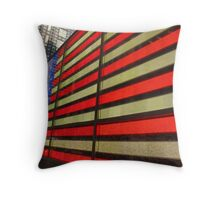 American Flag 42nd Street Throw Pillow
