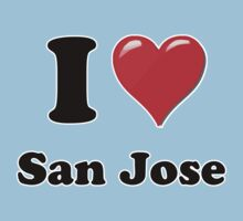 I Heart / Love San Jose by HighDesign